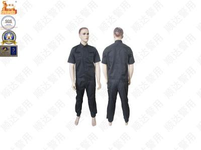 JF-SD1Q黑色涤棉抗静电短袖作训服